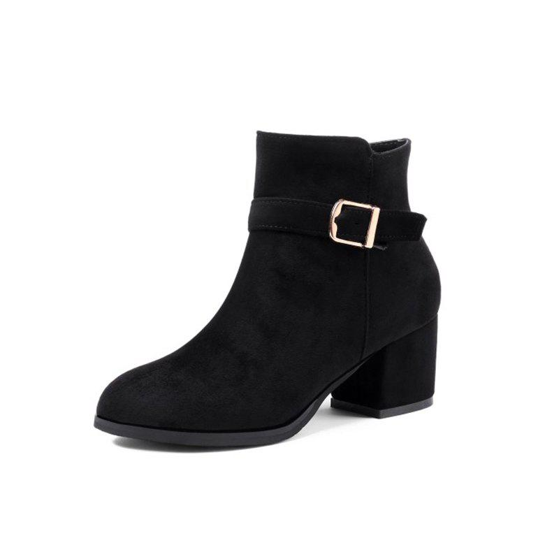 a66e382449a Autumn and Winter with Thick Heel Boots Belt Boots Women'S Boots