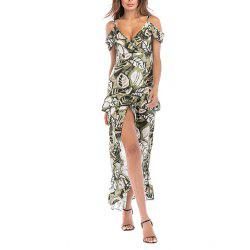 Ladies Beach et Night Out Dress Robe irrégulière Sling Dress Robe papillon coloré -