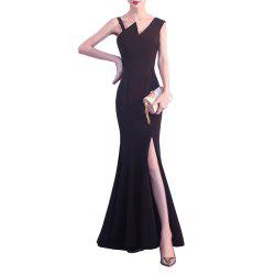 Ladies Elegant and Sexy Long Fishtail Party Evening Slim Fit Dress -