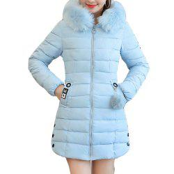 Plus Size Winter Coat Women Fake Fur Collar Warm Woman Parka -