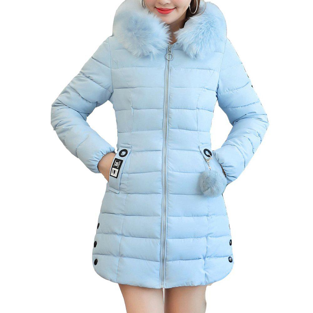 5d270188b Plus Size Winter Coat Women Fake Fur Collar Warm Woman Parka