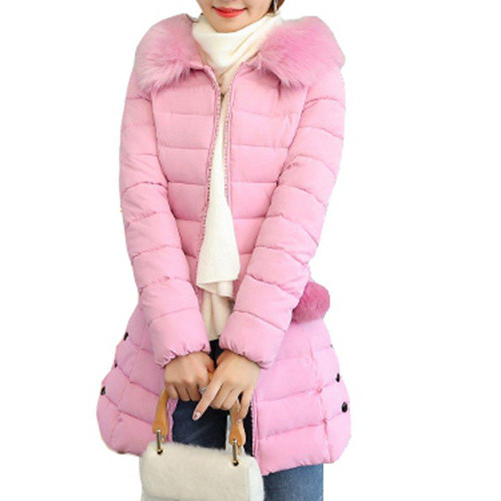 outstanding features best price retro Plus Size Winter Coat Women Fake Fur Collar Warm Woman Parka