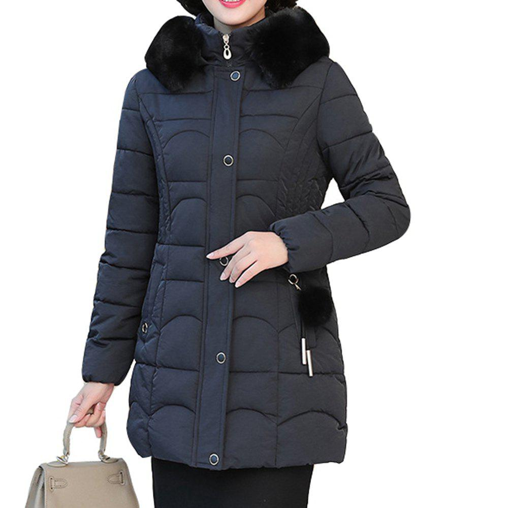 Outfits Plus Size Winter Women Cotton Hooded Coat Large Fur Collar Loose Warm Parka