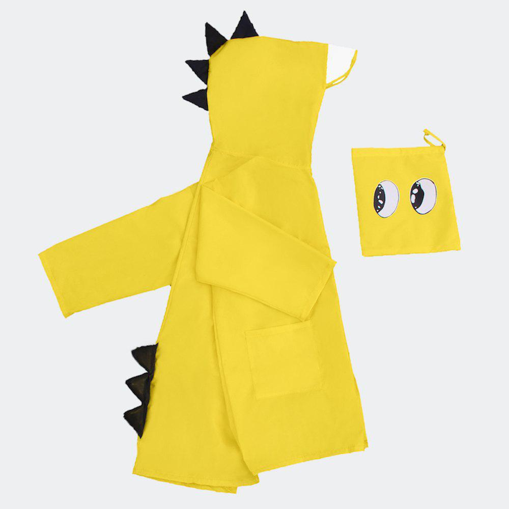 Chic Cute Lightweight Dinosaur Waterproof Jacket Raincoat for Girls and Boys
