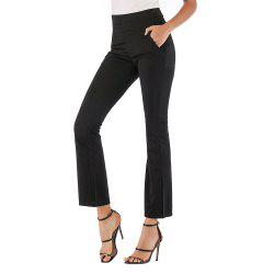 Women'S Fashion Stretch Slim Hip High Waist Trousers Casual Pants -