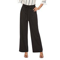Women'S Fashion Metal Ring Slim Hip High Waist Trousers Casual Pants -