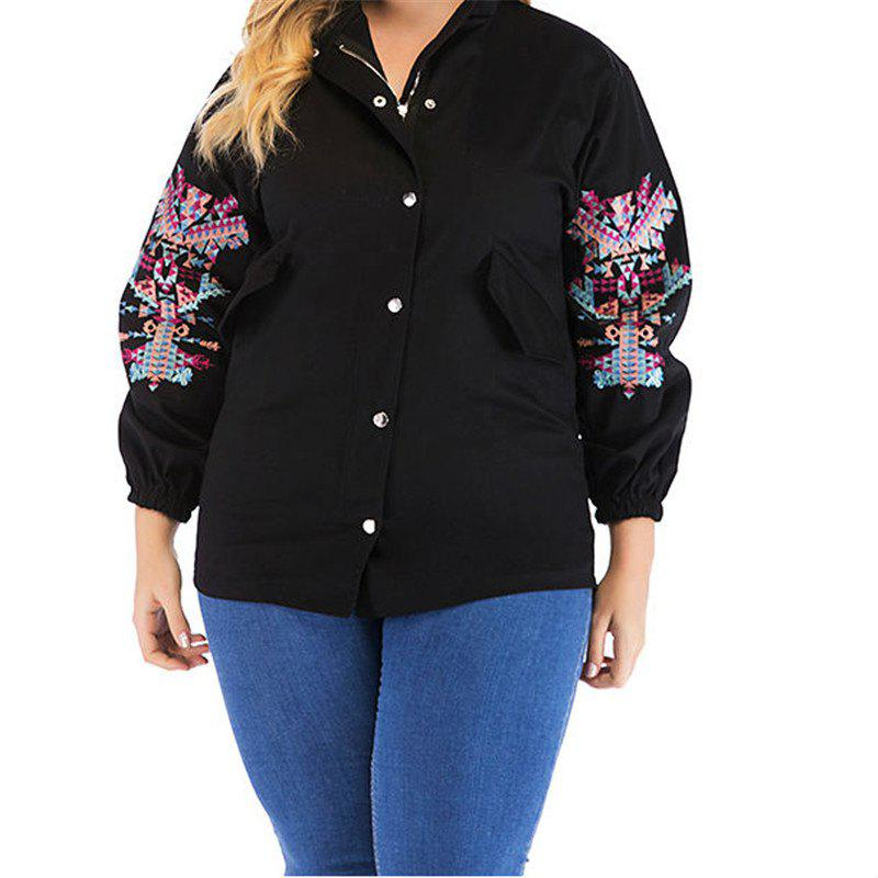 Unique Large Embroidered Long Sleeve Jacket for Women