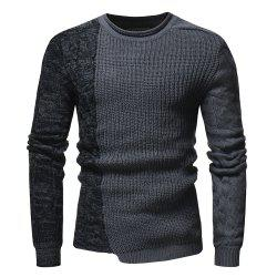 2018 New Foreign Trade Men'S Fashion Round Neck Personality Color Matching Wild -