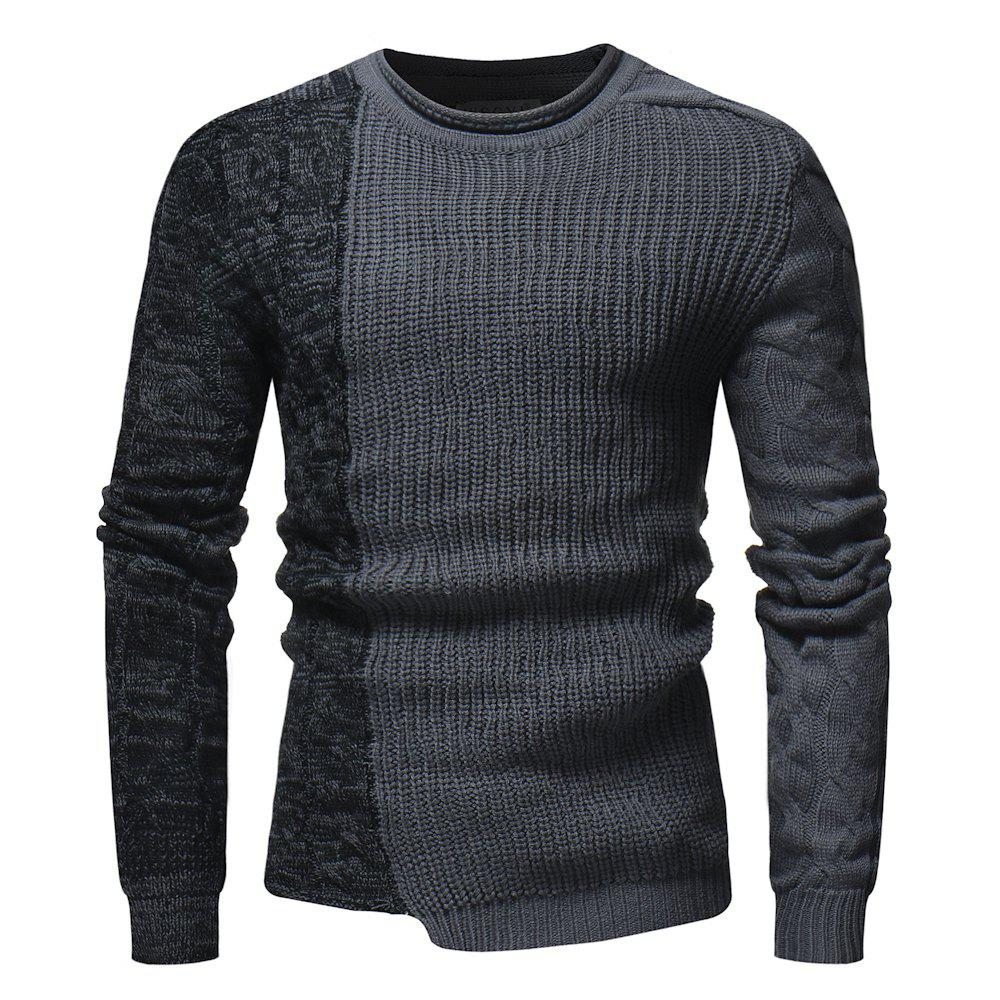 Discount 2018 New Foreign Trade Men'S Fashion Round Neck Personality Color Matching Wild