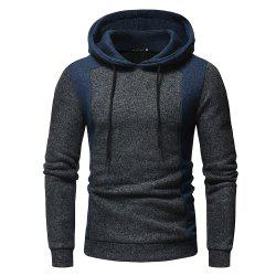 2018 New Men'S Fashion Contrast Color Mosaic Hooded Slim Long-Sleeved Hoodie -