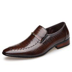 Qiu Dong Season Business Suit Men'S Shoes Water-Wave Add Flocking To Thicken The -