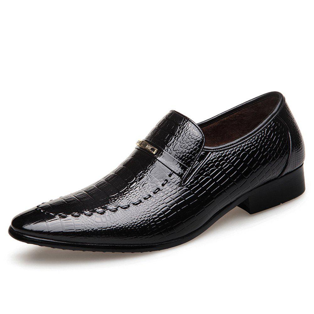Affordable Qiu Dong Season Business Suit Men'S Shoes Water-Wave Add Flocking To Thicken The