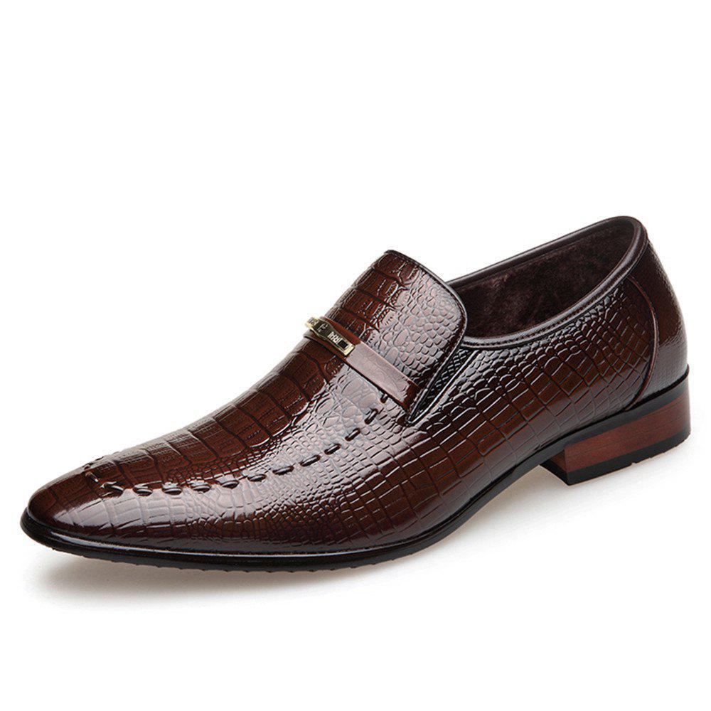 Best Qiu Dong Season Business Suit Men'S Shoes Water-Wave Add Flocking To Thicken The