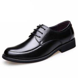 Autumn Round Head with Men Breathable Business Dress Shoes -