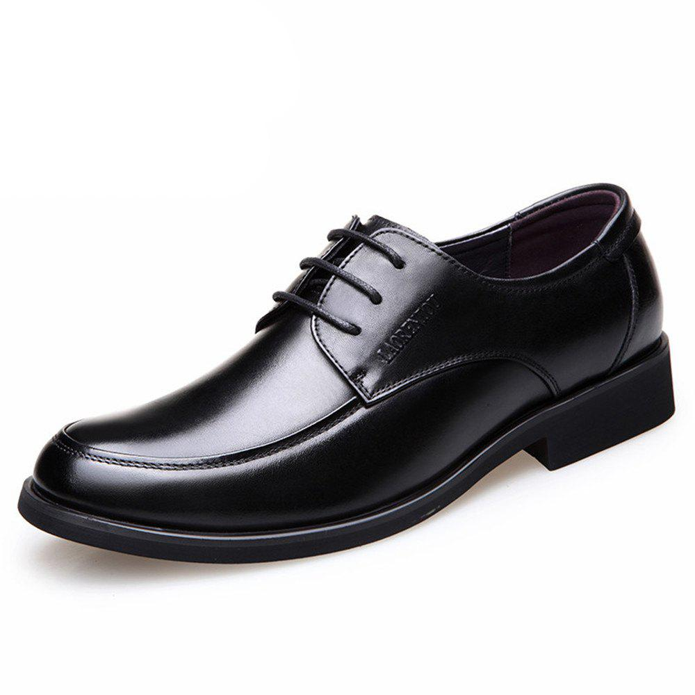 Store Autumn Round Head with Men Breathable Business Dress Shoes