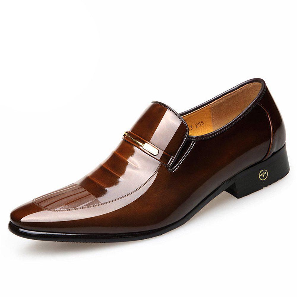 Fancy The New Fashion of England Men Business Suits Leather Patent Leather Shoes