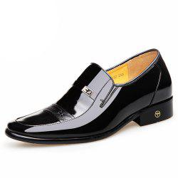 Hidden Within The Shoes 6 Cm Men Business Suits Breathable Leather Wedding Shoes -