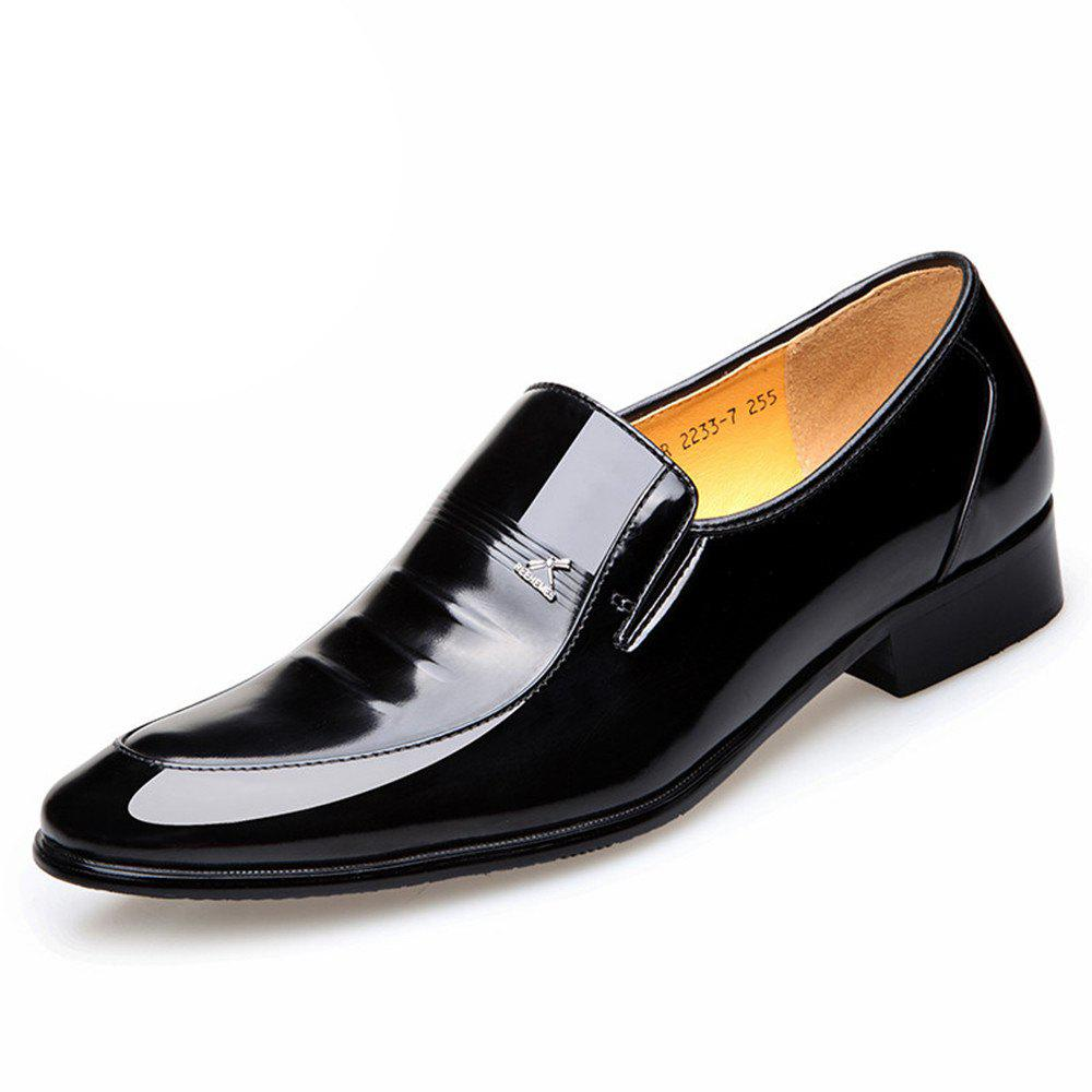 Fashion Autumn Men Business Suits Leather Shoes Single Shoes Pointed Marriage of England