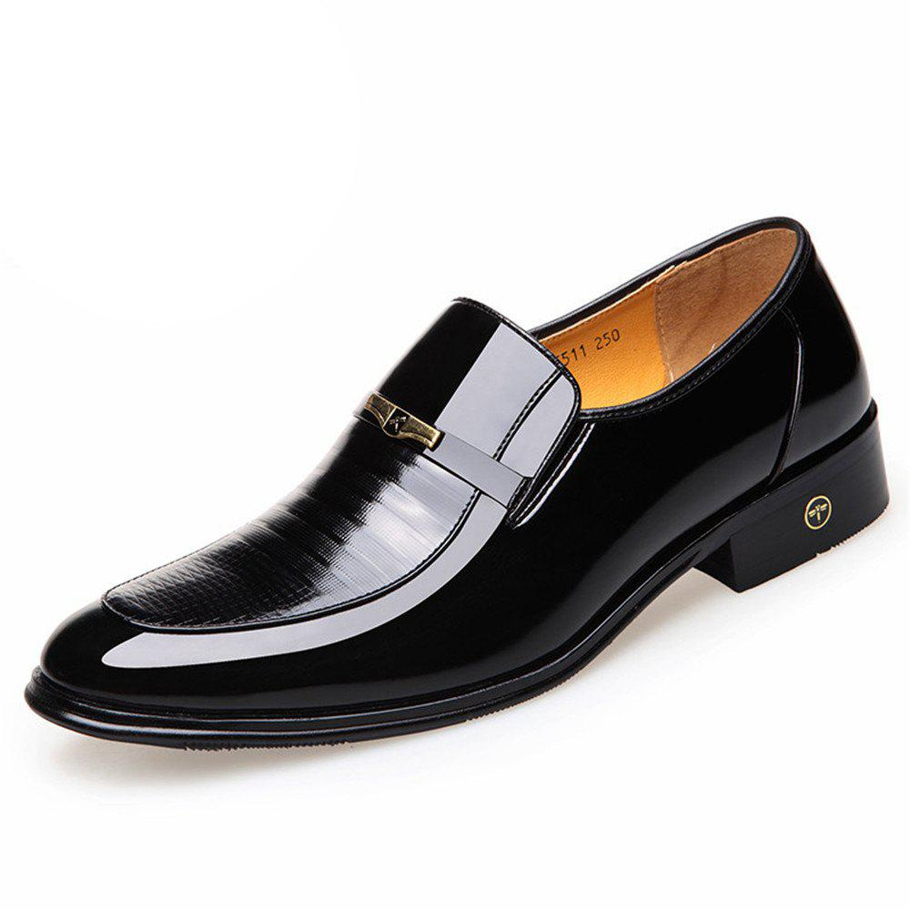 Cheap Han Edition Business Men Dress Shoes Dad Recreational Leather Shoes