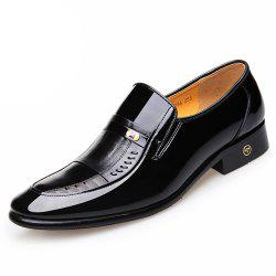 Autumn Dress Shoes Leather Wingtip Shoes in England Business Patent Leather Shoe -