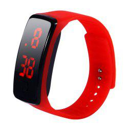 Fashion gift youth sports jelly TPU LED watch -