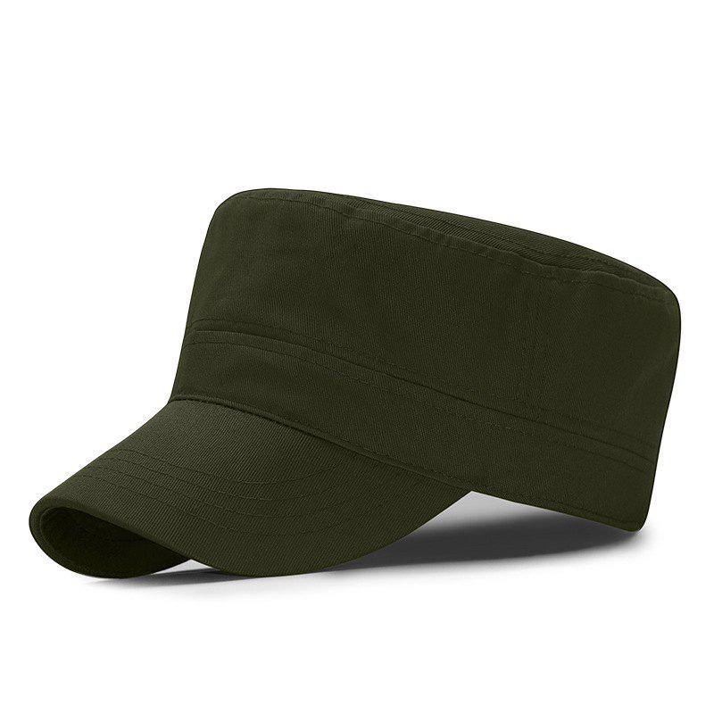 Simple military cap + adjustable for 56-60cm head circumference, Army green