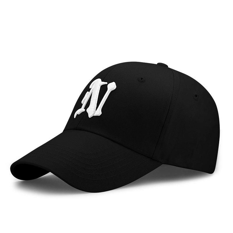 Affordable Letter embroidered cap + adjustable for 56-60cm head circumference