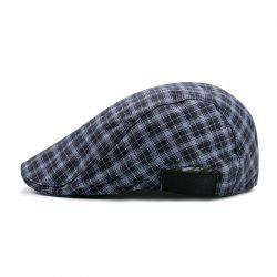 Plaid Beret + elastic adjustable on both sides 56-58CM -