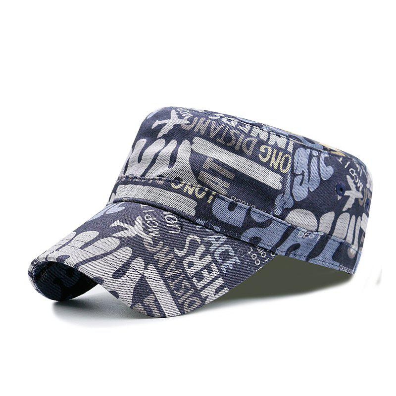 Shops Flower cloth printing flat cap + code can be adjusted 55-59CM