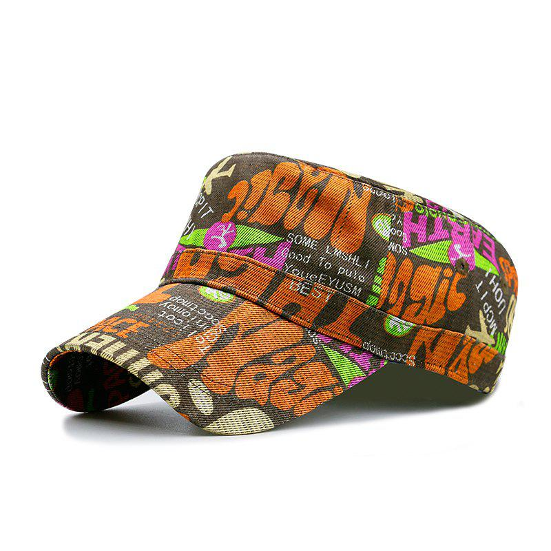 Cheap Flower cloth printing flat cap + code can be adjusted 55-59CM