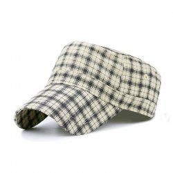 Plaid flat cap + code can be adjusted 55-59CM -