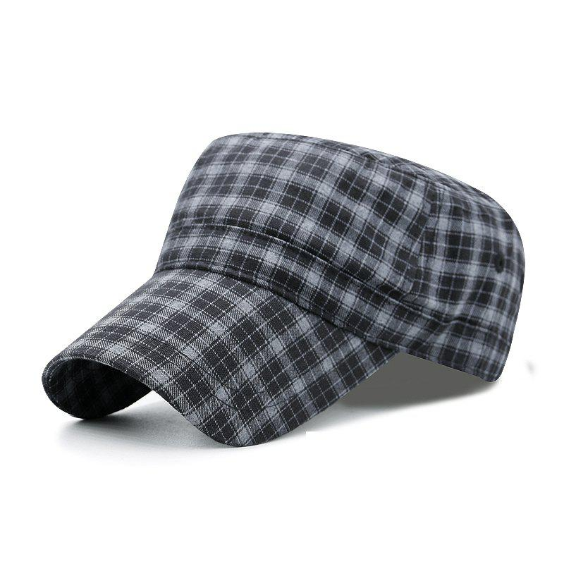 Sale Plaid flat cap + code can be adjusted 55-59CM
