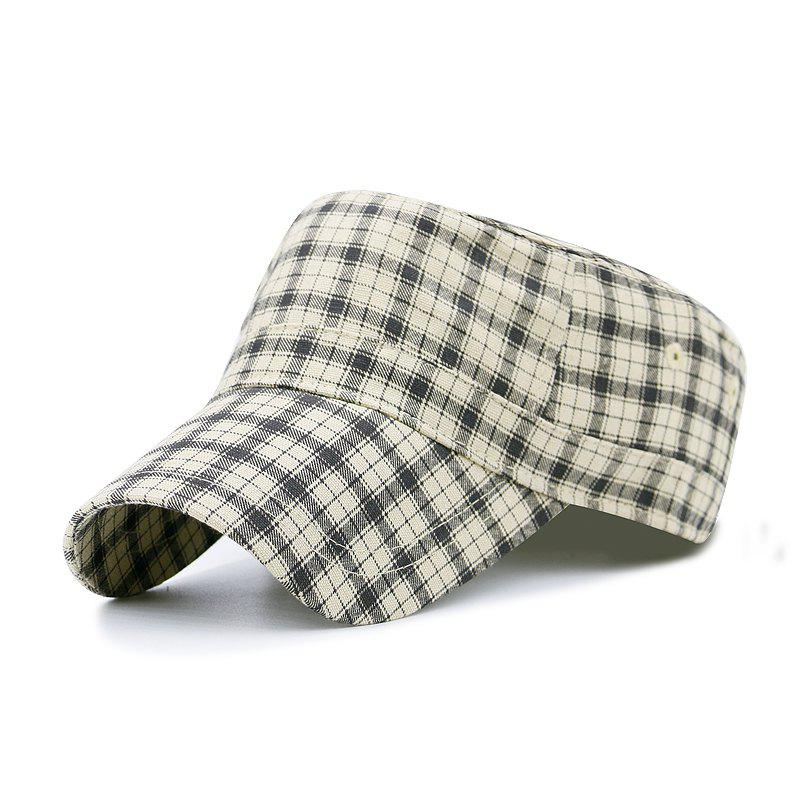 Discount Plaid flat cap + code can be adjusted 55-59CM