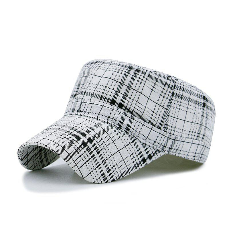 Shop Plaid flat cap + code can be adjusted 55-59CM