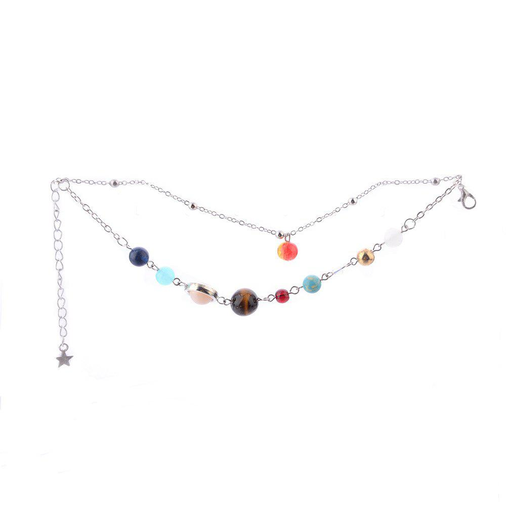 Творческая личность Galaxy Galaxy Double Color Female Anklet