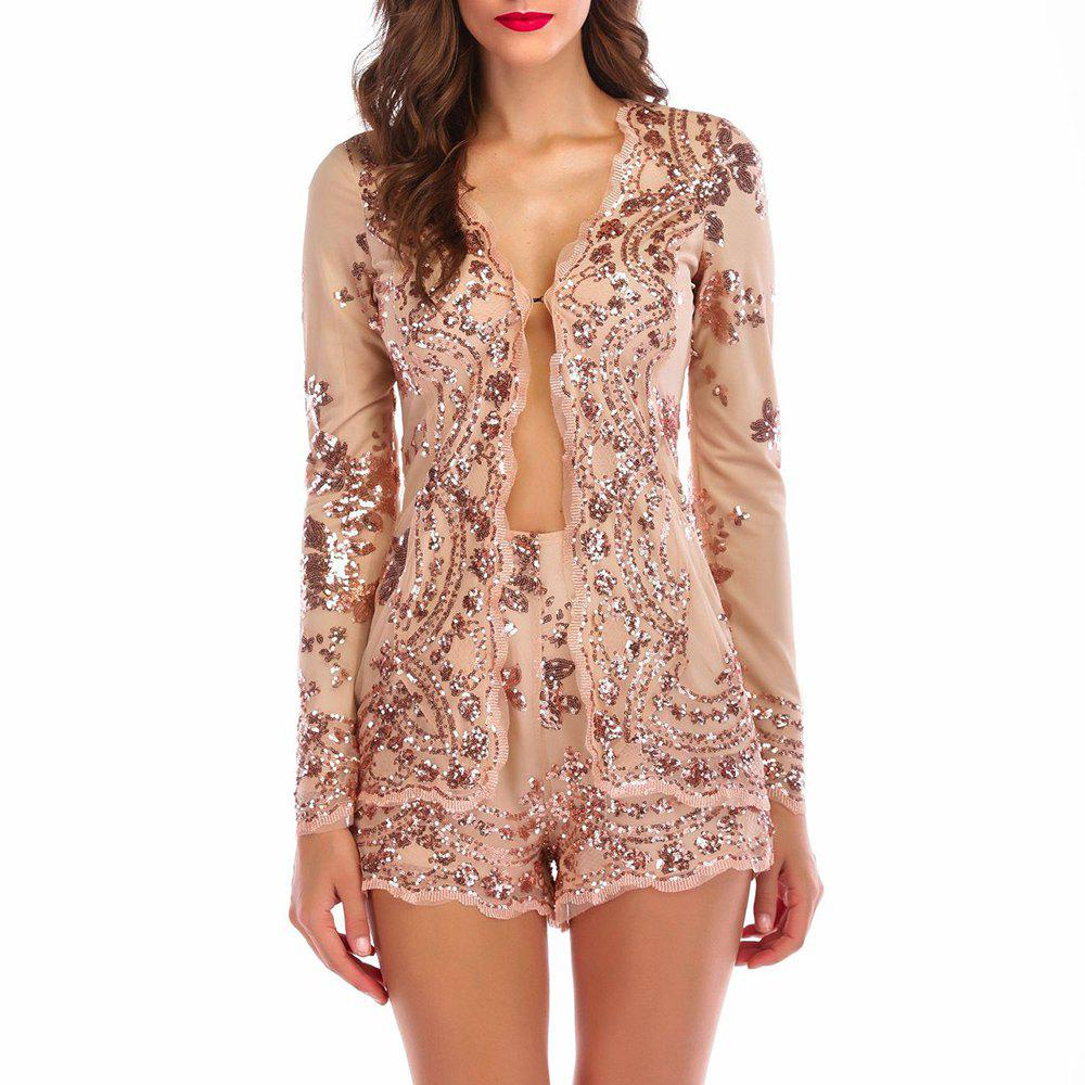 Store Elegant Lace Sequined Sling Sexy Nightclub Mini Dress Suit