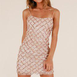 Elegant Sexy Sequined Sling Backless Nightclub Dress -