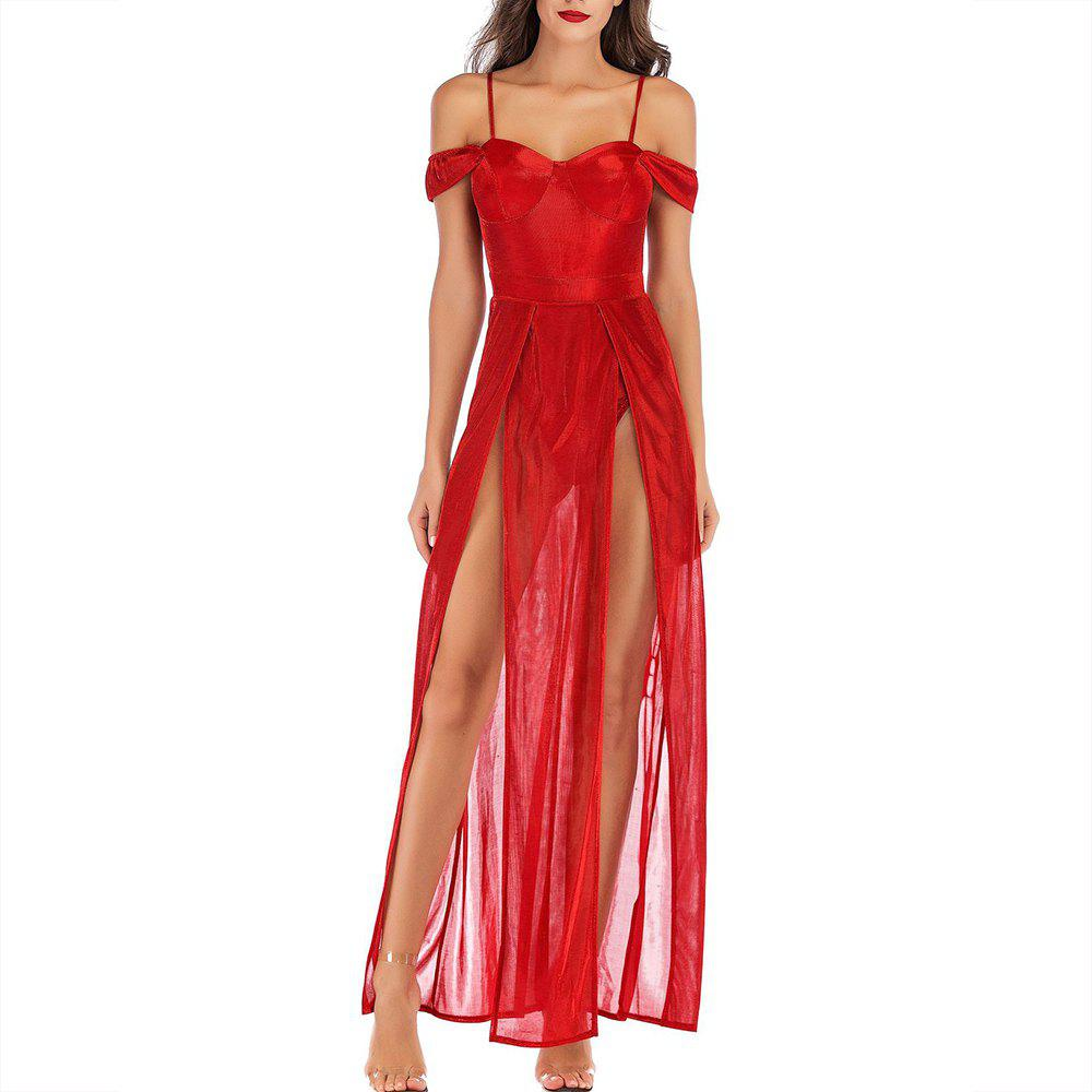 Buy Elegant Fashion Nightclub Sling Sexy Split Sequin Dress