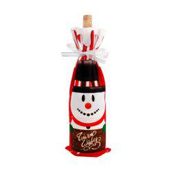 Christmas Decorations  Santa Claus Wine Bottle Cover -
