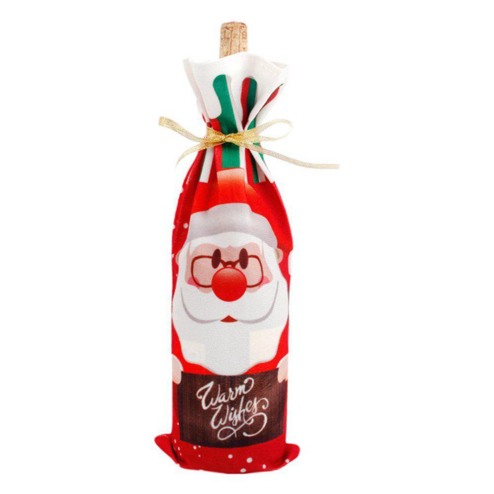 Affordable Christmas Decorations  Santa Claus Wine Bottle Cover