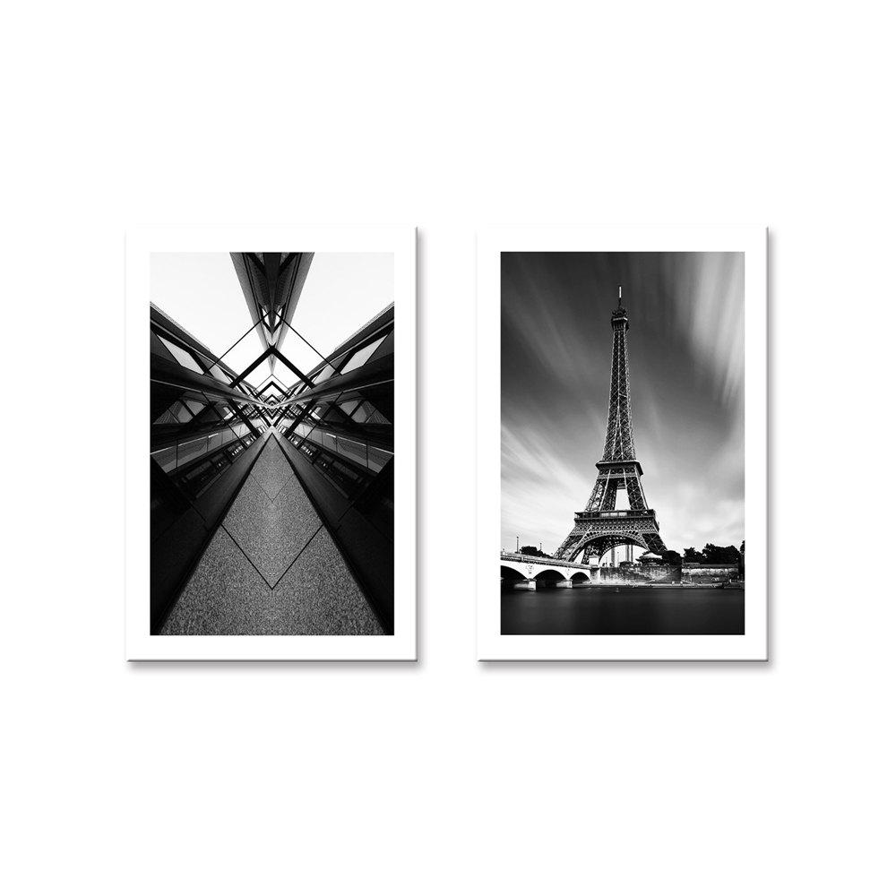 W718 Eiffel Tower Unframed Wall Canvas Prints для домашних украшений 2PCS