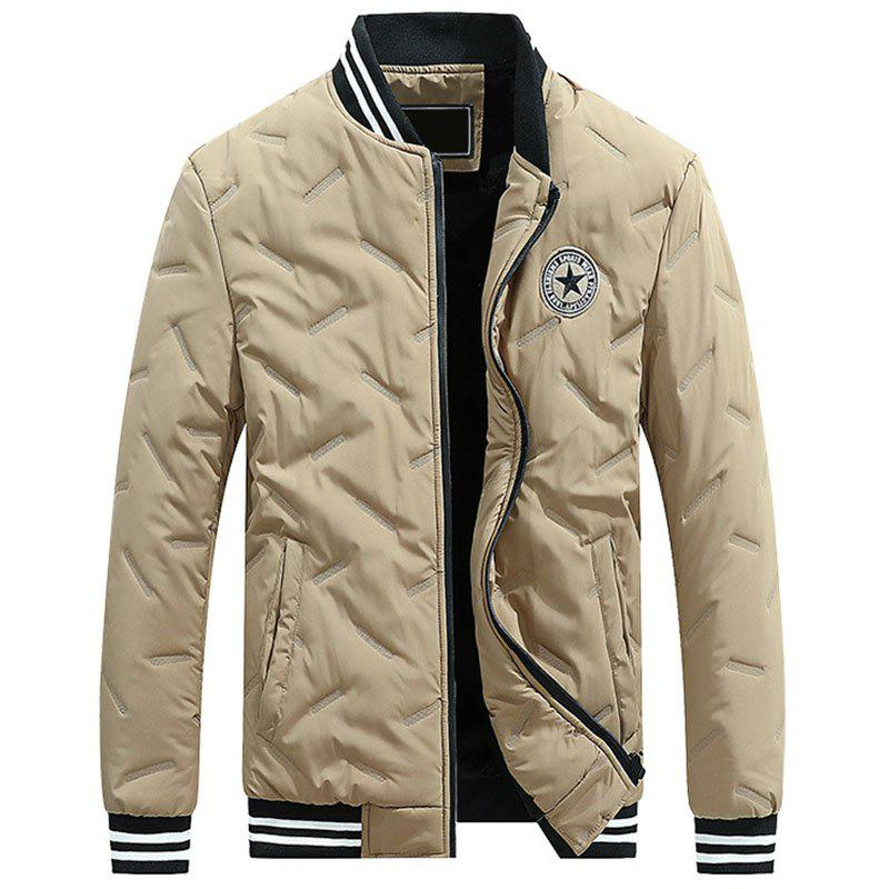 Shop New Man Fashion Solid Casual Spring Autumn Winter Loose Parka Coat