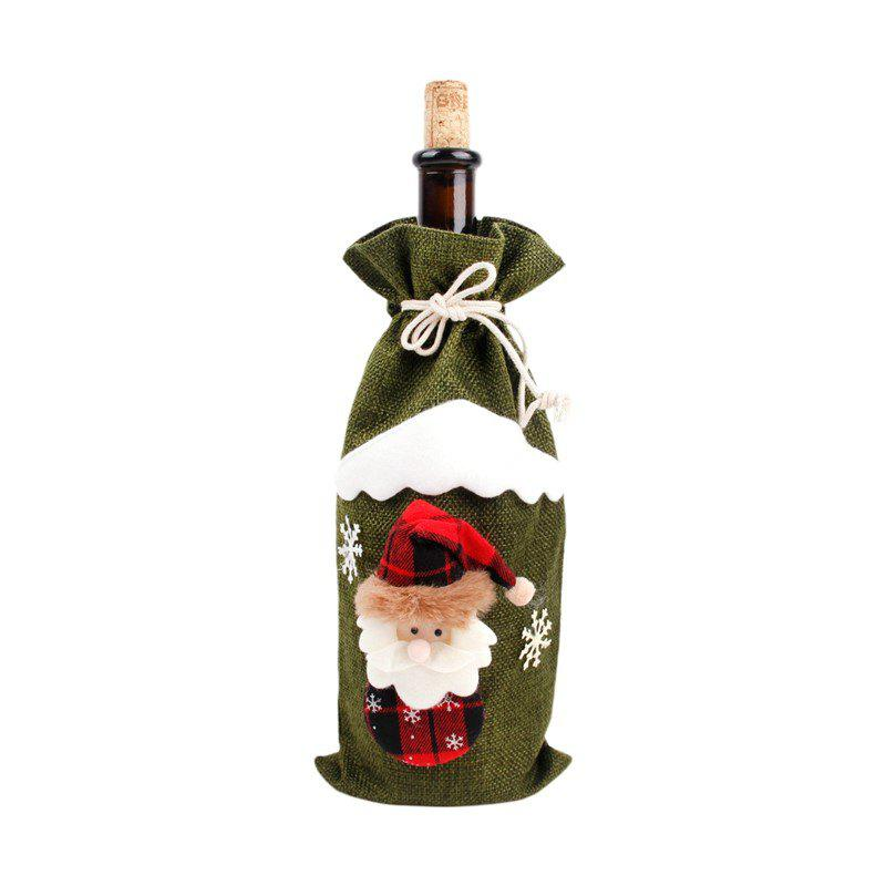New Christmas Decorations for Home Santa Claus Wine Bottle Linen Cover Snowman