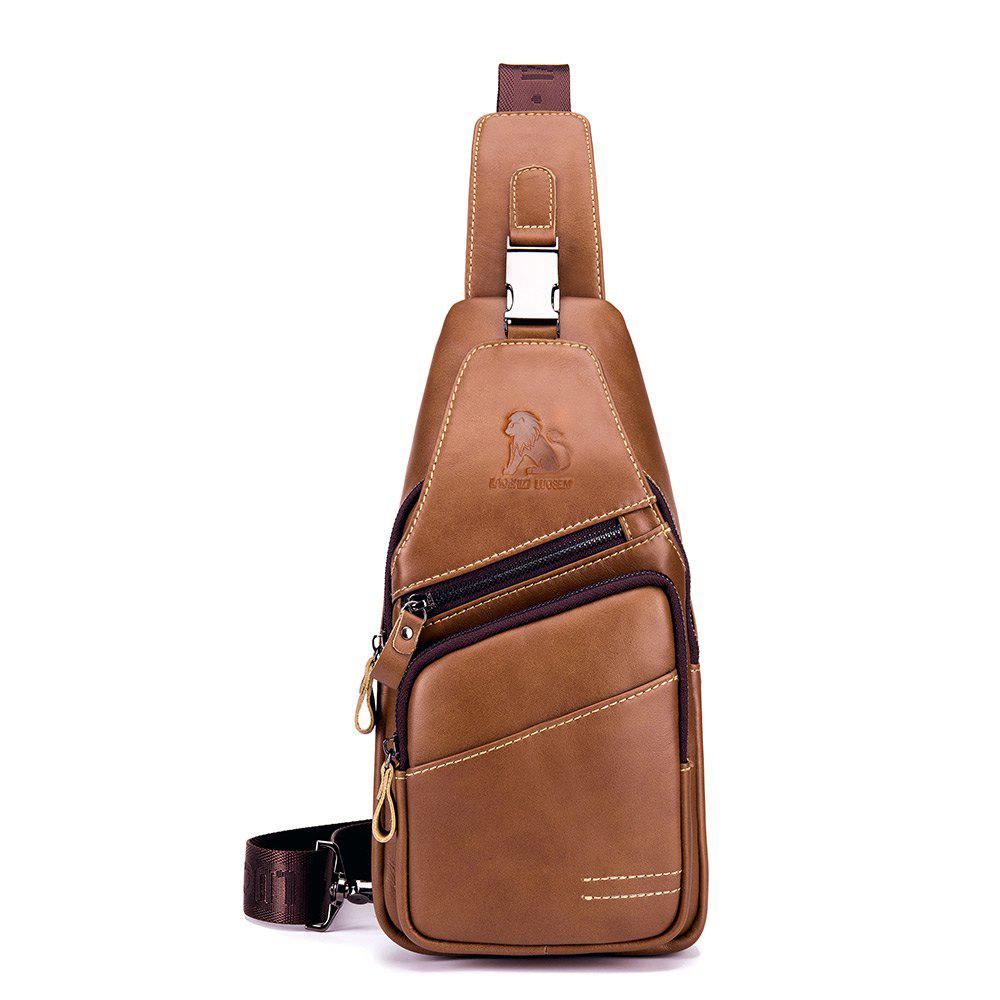 Chic LAOSHIZI Men's New Casual Business Front And Rear Crossbody Chest Bag
