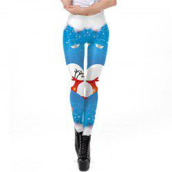 Christmas Costumes Santa Clothes Women Printing Sport Leggings -