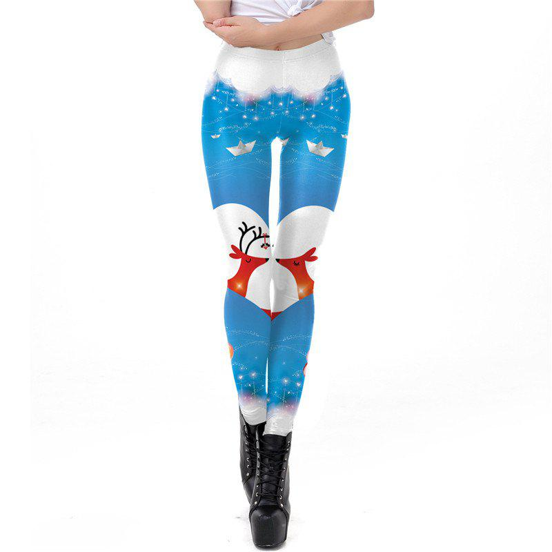 New Christmas Costumes Santa Clothes Women Printing Sport Leggings