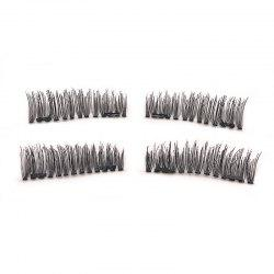Natural Length 0.9-1.1CM Double Magnet Long Eyelashes for 4 Pieces S800 -