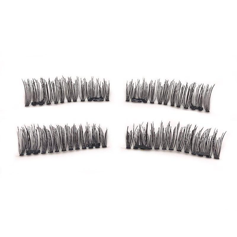 Hot Natural Length 0.9-1.1CM Double Magnet Long Eyelashes for 4 Pieces S800