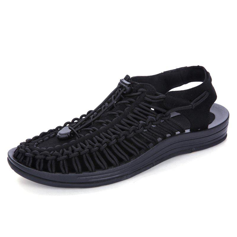 Shops Men Large Size Hand-Woven Outdoor Beach Sandals