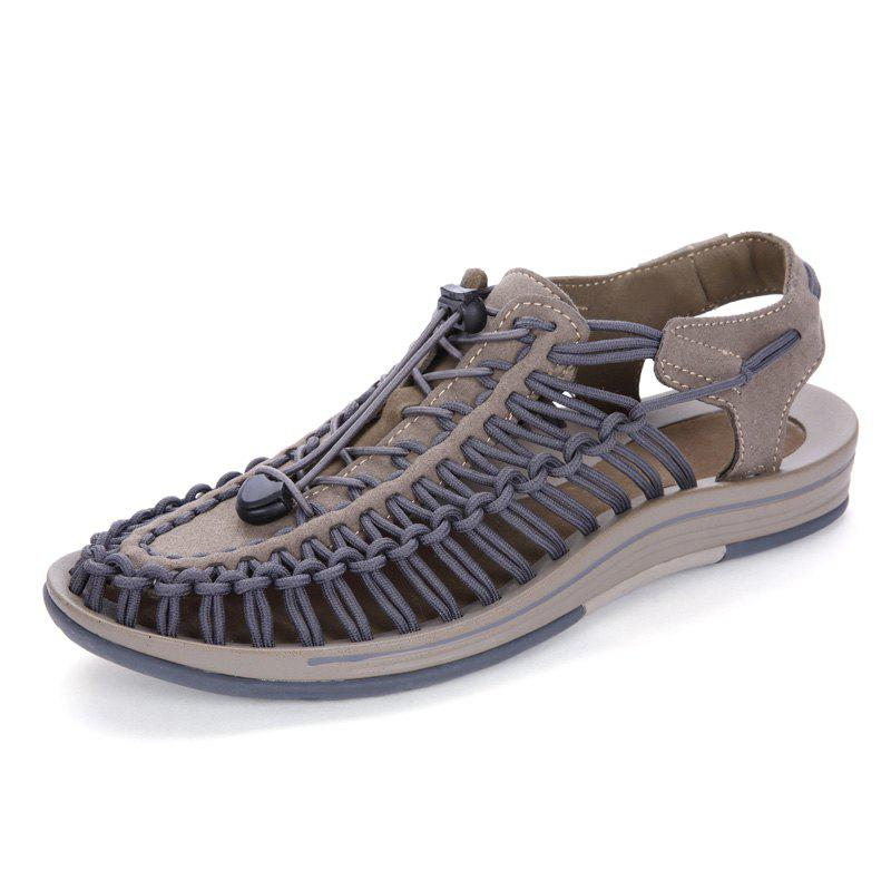 Best Men Large Size Hand-Woven Outdoor Beach Sandals